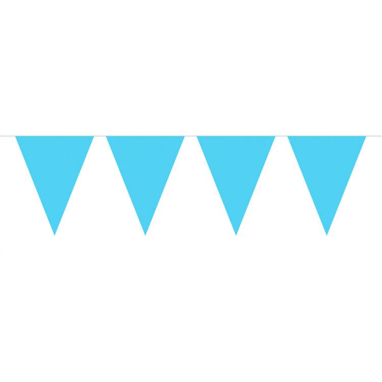 Image of Lichtblauwe Mini Vlaggenlijn, 3mtr.