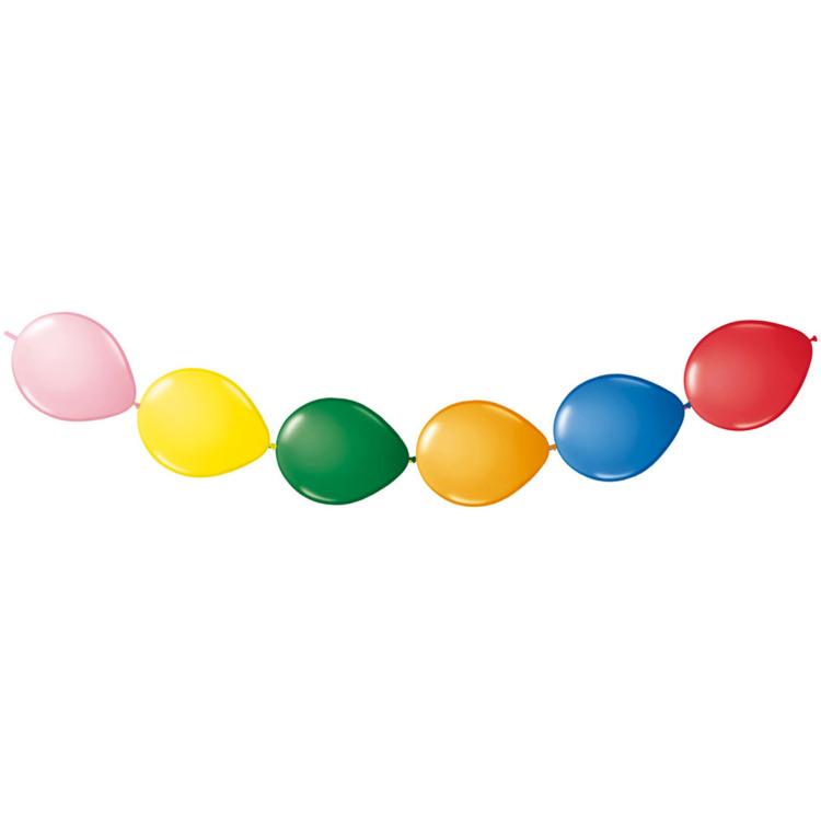 Image of Knoopballonnen Gekleurd, 8 Stuks