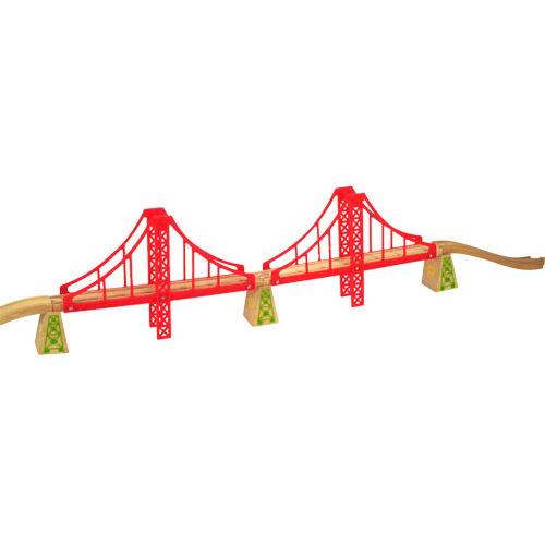 Image of Houten Rails - Dubbele Handbrug, 7-