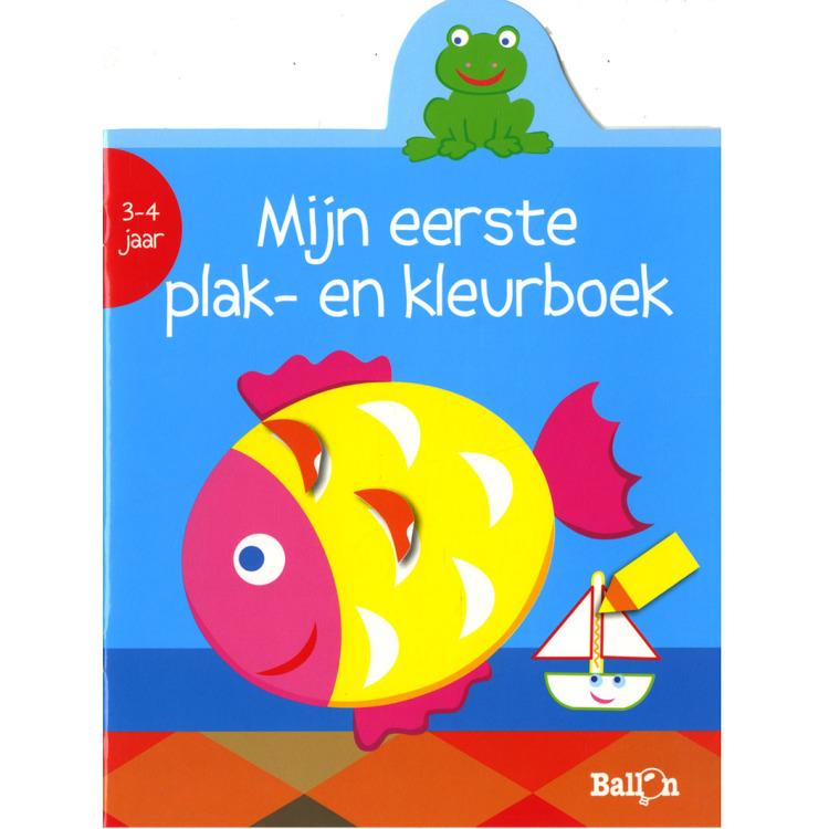Image of Mijn Eerste Plak- En Kleurboek Vis (3-4