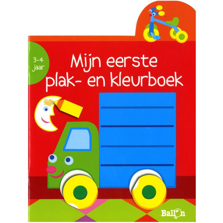 Image of Mijn Eerste Plak- En Kleurboek Vrachtwagen (3-4 Jaar)