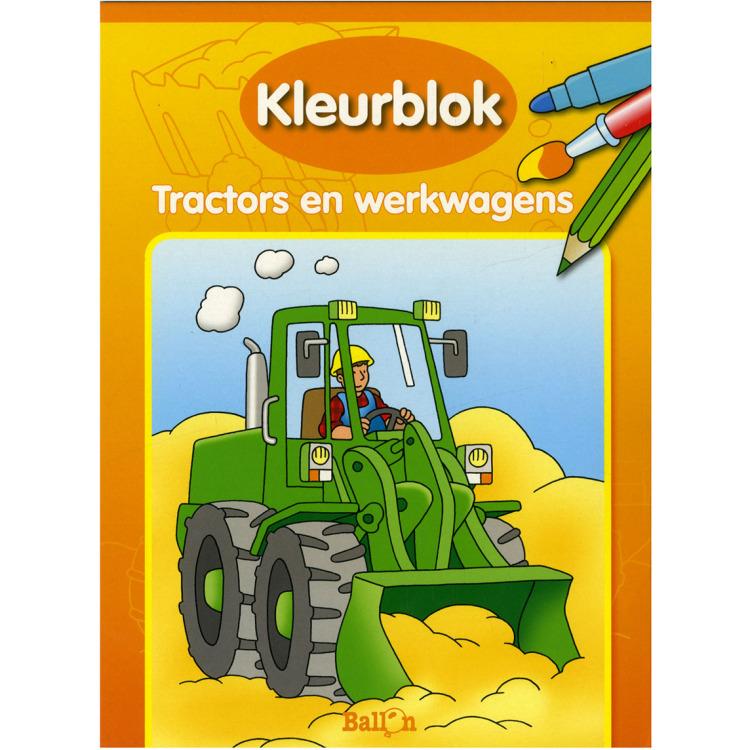Image of Kleurblok Tractors En Werkwagens