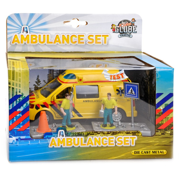 Ambulance set met licht en geluid