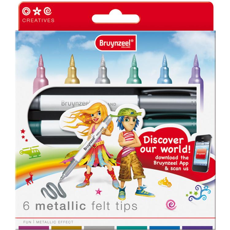 Image of Bruynzeel 6 stiften - metallic kleuren