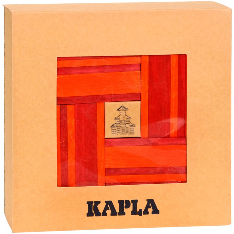 Kapla 40 Stuks Rood Oranje Met Boekje