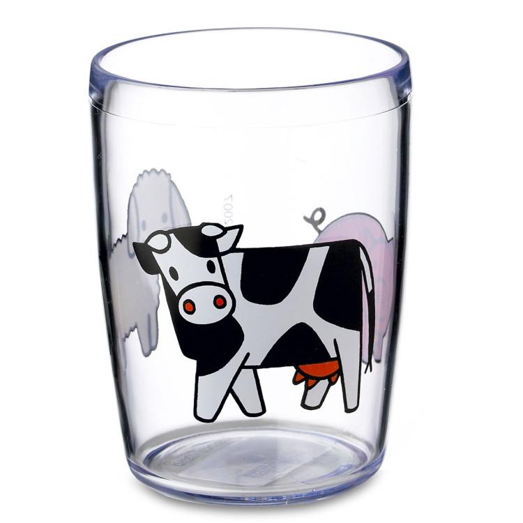 Image of Kinderglas 200 Ml - Boerderij Blauw