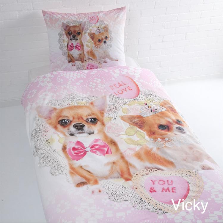 Day Dream Vicky dekbedovertrek - Roze - 1-persoons (140x200/220 cm + 1 sloop)