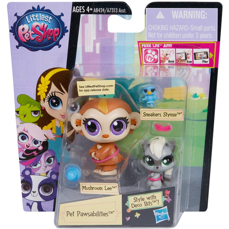 Image of Littlest Pet Shop - Paw Friends Double-Packs with Deco Bits Assortment (A7313)