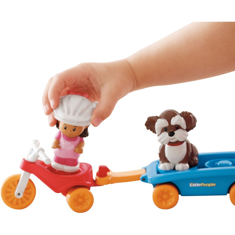 Fisher Price Little People Driewieler Met Wagentje