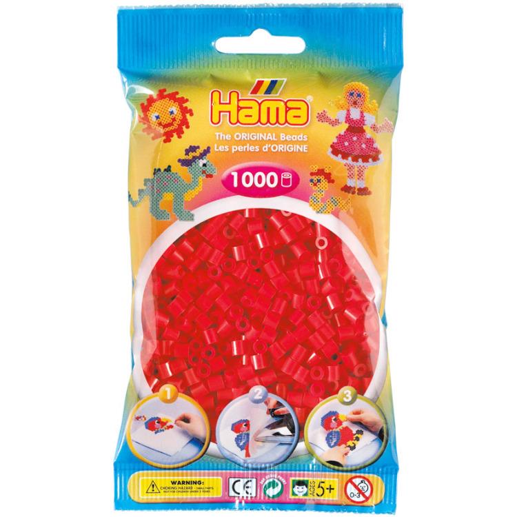 1000 strijkkralen rood