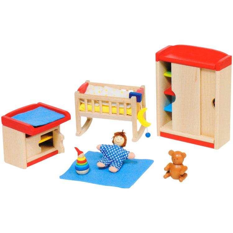 Goki kinderkamer (12-delige set) hout meerkleurig, Base Toys