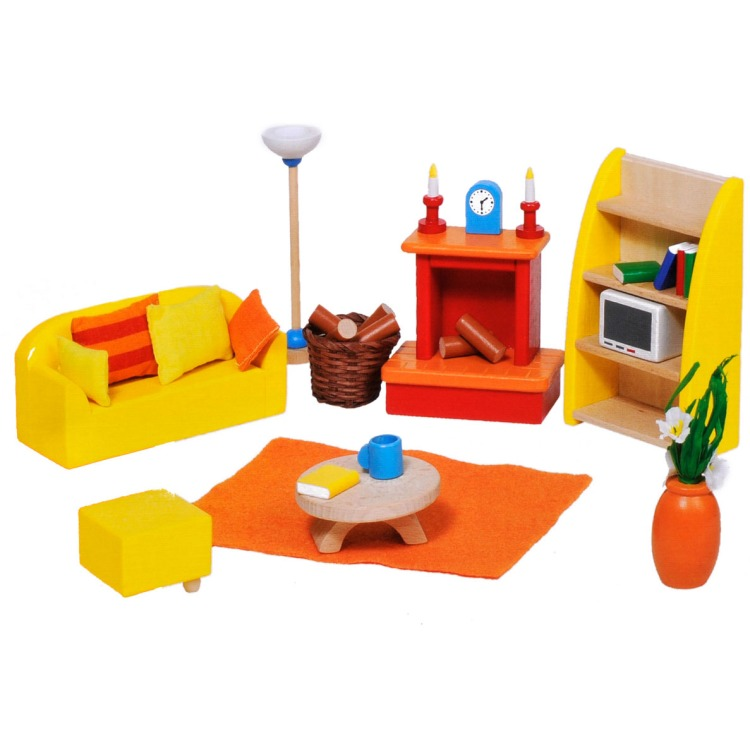 Goki woonkamer (24-delige set) hout meerkleurig, Base Toys