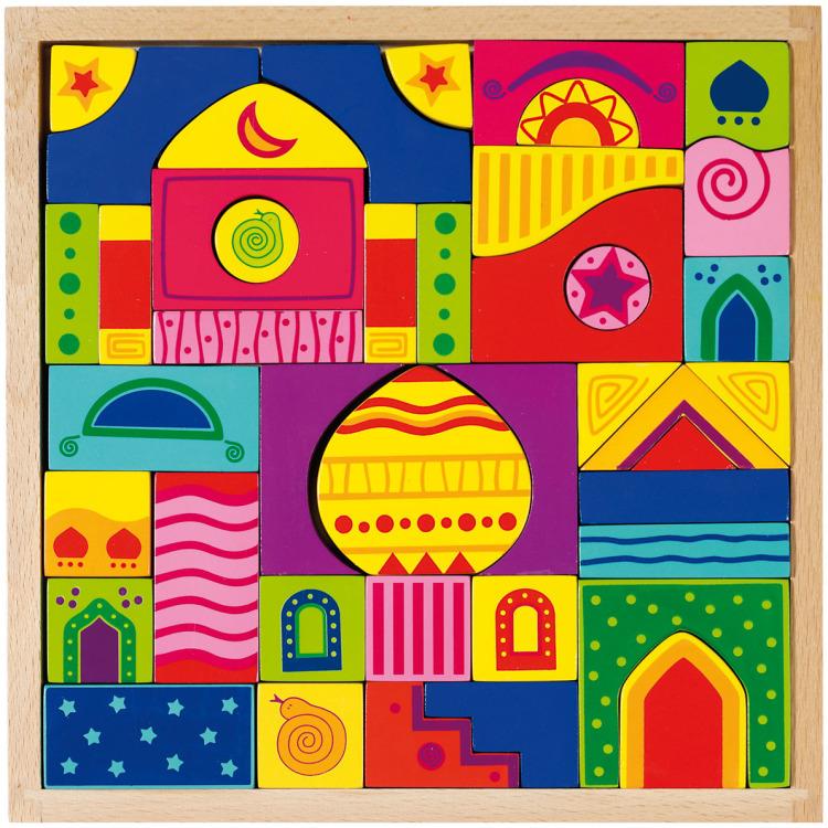Image of Houten Bouw-en Legpuzzel: 1001 Nachten 42-Delig