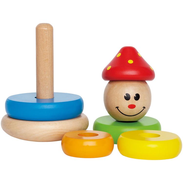 Hape houten stapelringen clown