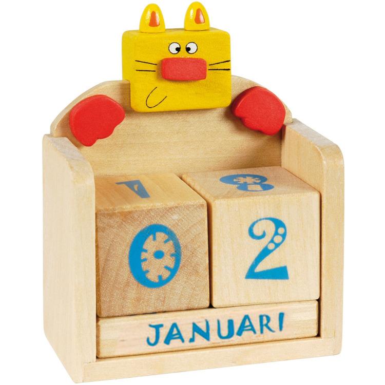 Image of Houten Kalender - Poes