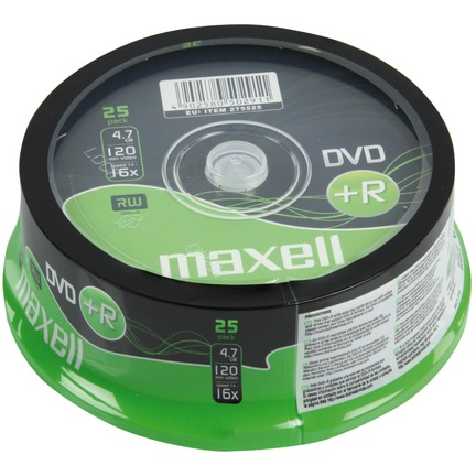 DVD+R 4,7 GB 25 Pak Spindel