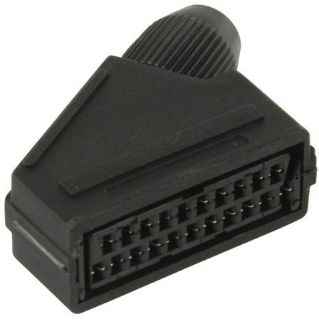 SCART connector SCART vrouwelijk zwart