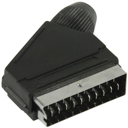 SCART connector SCART mannelijk zwart
