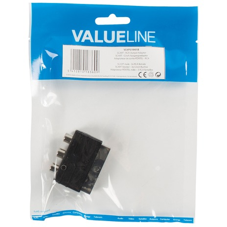 Valueline VLVP31901B kabeladapter/verloopstukje
