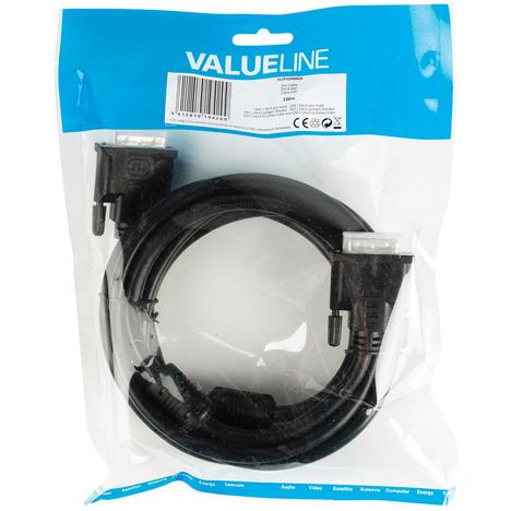 3m DVI-I-Kabel, Schwarz [24+5-poliger Stecker -> 24+5-poliger Stecker]