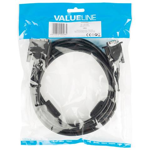 3m DVI-VGA-Kabel, Schwarz [DVI-A 12+5-poliger Stecker -> VGA-Stecker]