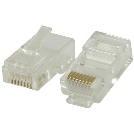 Solide CAT6 UTP-netwerkconnector transparant