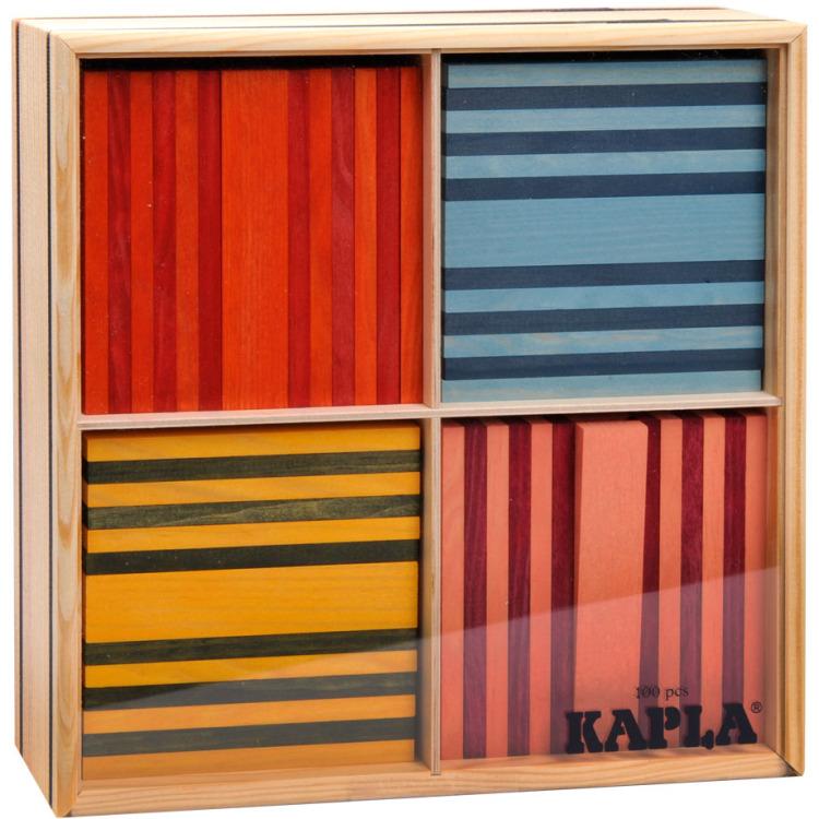 Kapla 100 stuks gekleurd in kist