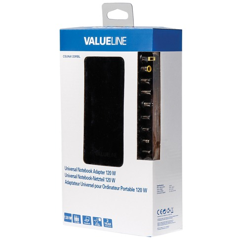 Valueline Universele notebook-adapter 120 W (CSUNA120RBL)