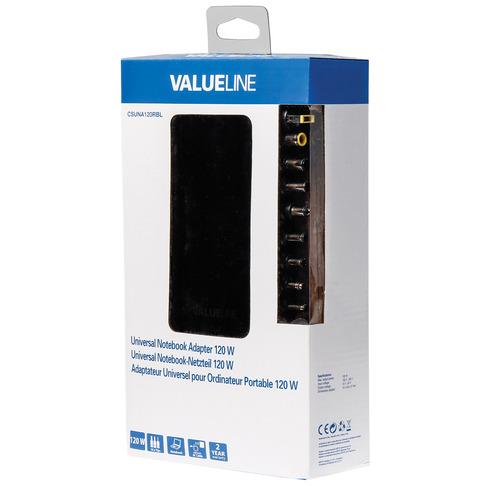 Valueline Universele notebook-adapter 120 W (CSUNA120RBL)