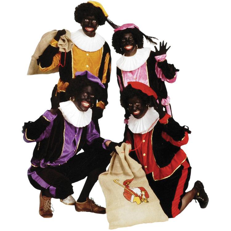 Zwarte Piet Kostuum Volw. - Maat M - Roze