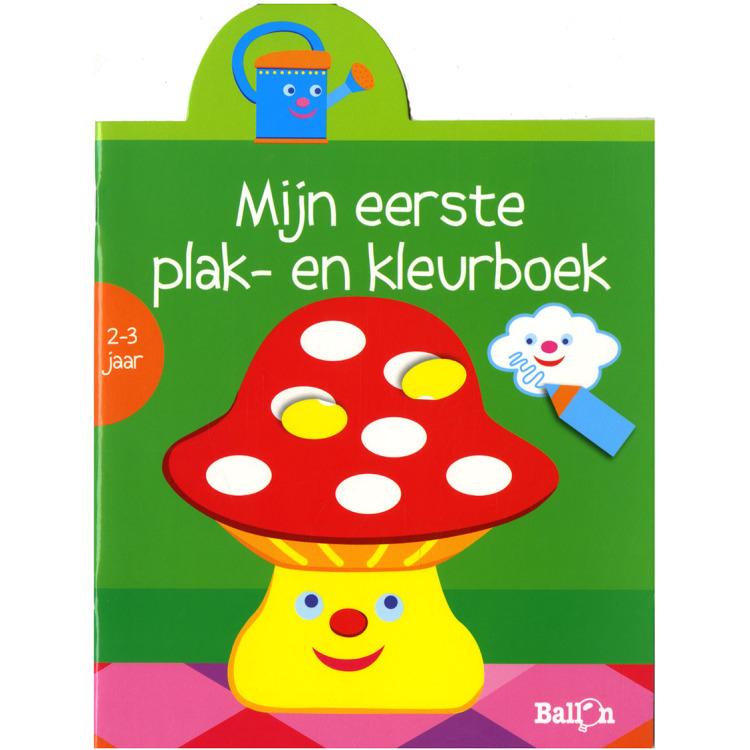 Image of Mijn Eerste Plak- En Kleurboek Paddenstoel (2-3 Jaar)