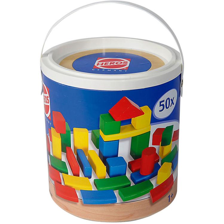 Image of Houten blokken kleur, 50-delig