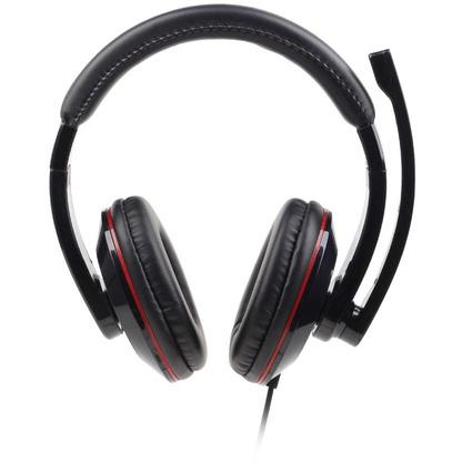 Gembird MHS-U-001 USB stereo headset glossy black (MHS-U-001)