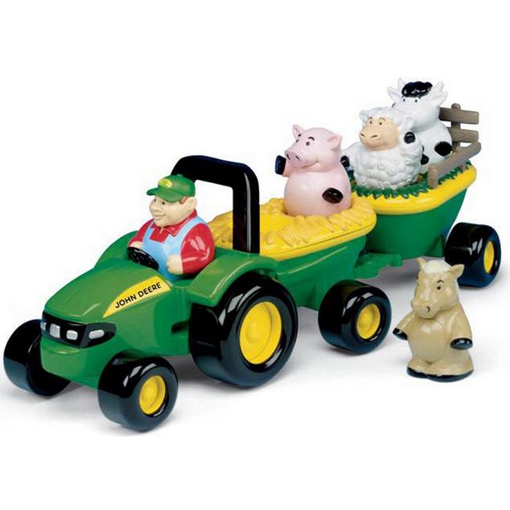 Image of Brit Muzikale Tractor Met Aanhanger En