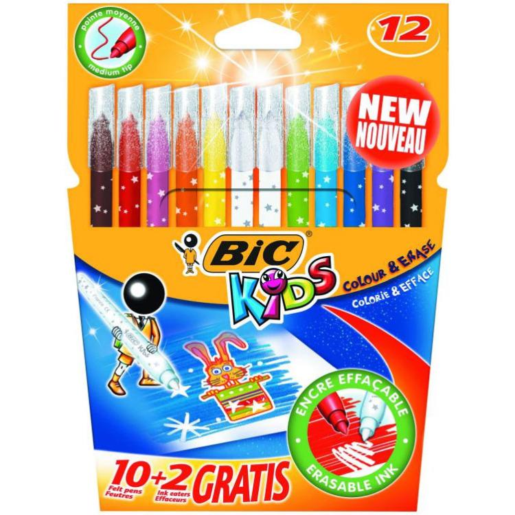 BIC Kids 10 + 2 uitwasbare toverstiften