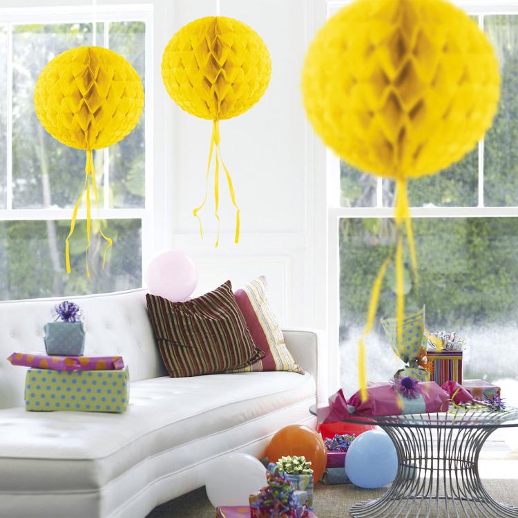 Honeycomb Bal Geel