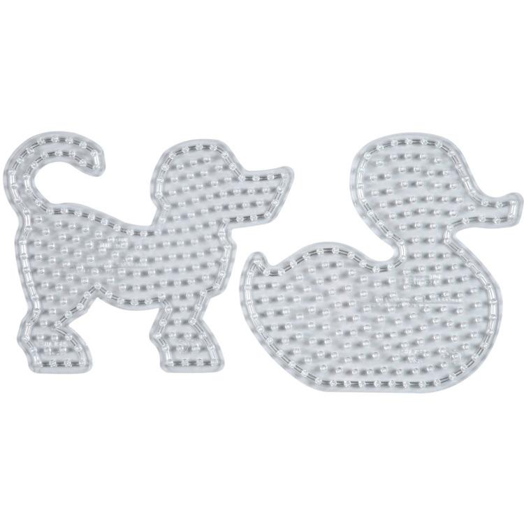 Strijkkralen Grondplaat Maxi Hond + Eend