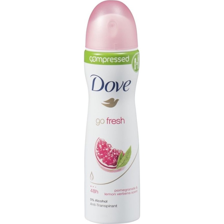 Image of Go Fresh Pomegranate Compressed Deodorant Spray, 75 Ml