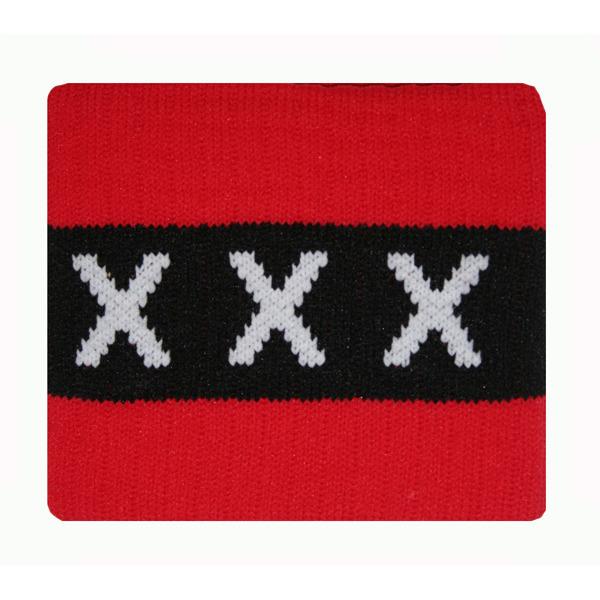 Image of Aanvoerdersband XXX Rood/zwart