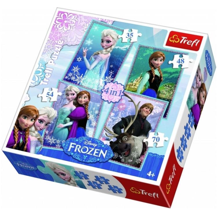 Puzzel Frozen 4 in 1: 35/48/54/70 stukjes