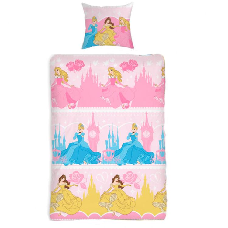 Disney Princess kinderdekbedovertrek - eenpersoons - 140x200 - Roze - PR041