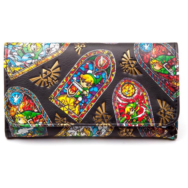 Nintendo Zelda Windows, Folded Wallet (Zwart)
