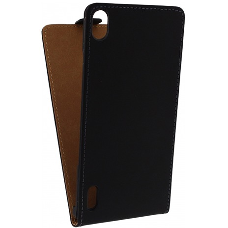 Mobilize Ultra Slim Flip Case Huawei Ascend P7 Zwart
