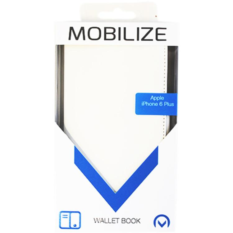 Mobilize Slim Wallet Book Case Apple iPhone 6 Plus Wit