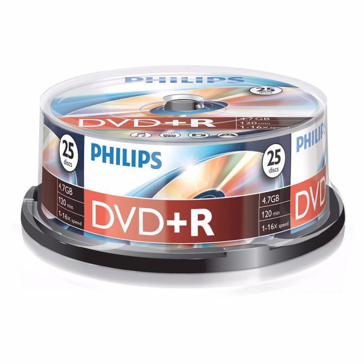 Philips DVD+R Cakebox 25 stuks