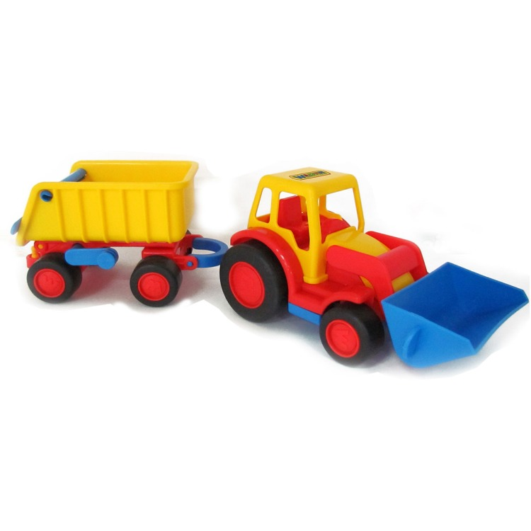 Image of Basics Tractor Met Shovel En Trailer
