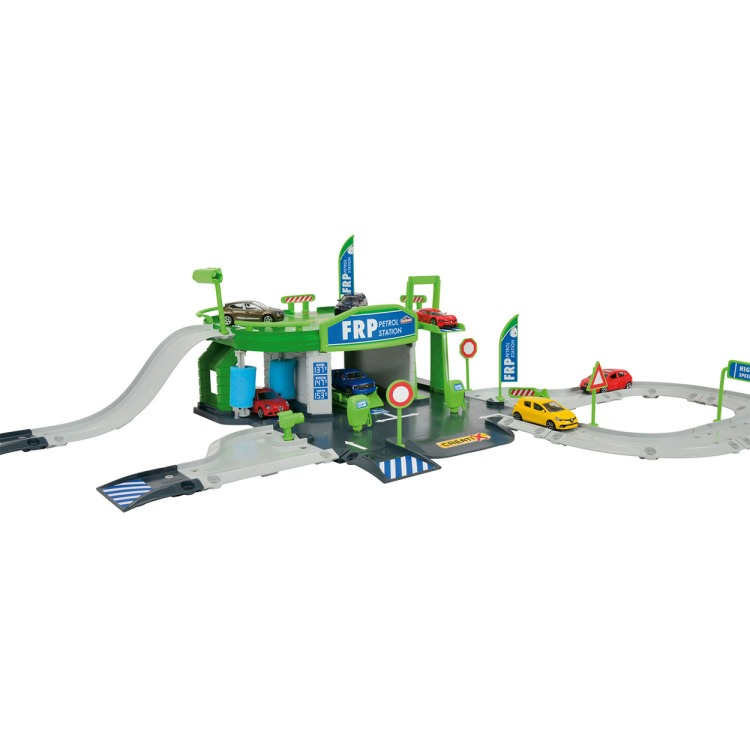 Majorette - creatix petrol station + 1 auto