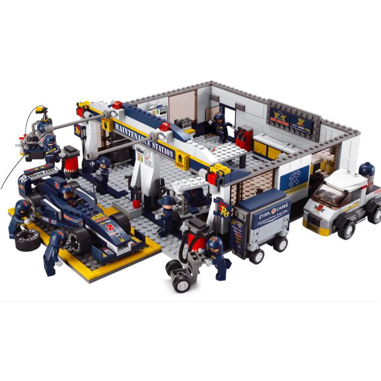 Sluban Formule 1 F1 Garage Werkplaats M38-B0356