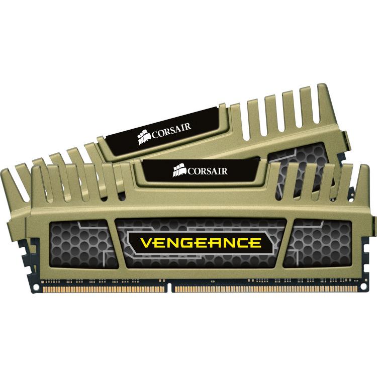 DDR3 1600 16GB 2x240 Dimm Unbuffered 9-9-9-24 Vengeance Green Heatspreader Corei7 Core i5 and Core 2/AMD Phenom II - Dual Channel 1.5V