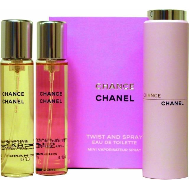 Image of Chance Eau De Toilette Twist And Spray Navulbaar, 3x 20 Ml